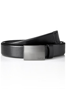 Kenneth Cole REACTION Men's Plaque Buckle Belt With Comfort Stretch black