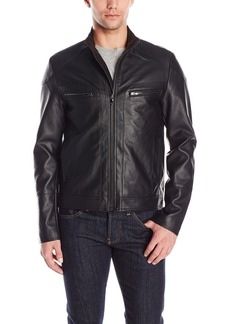 Kenneth Cole REACTION Men's Pleather Moto Jacket