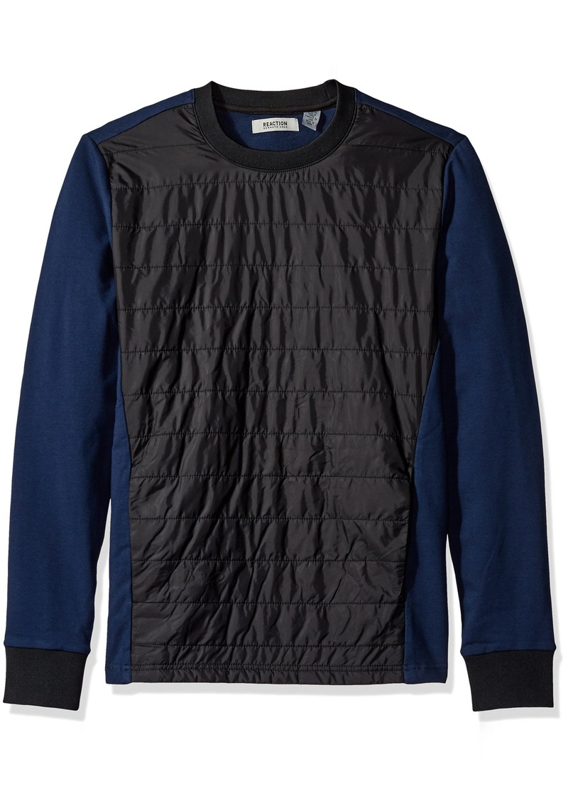 Kenneth Cole REACTION Men's Quilted Nylon Crew