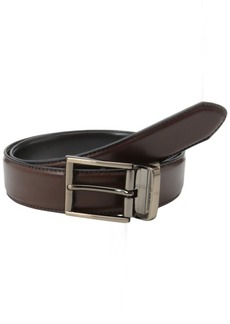 Kenneth Cole REACTION Men's Kenneth Cole Reaction Reversible Belt With Gunmetal Buckle