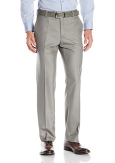 Kenneth Cole Reaction Men's Sharkskin Slim Fit Flat Front Pant  31Wx30L