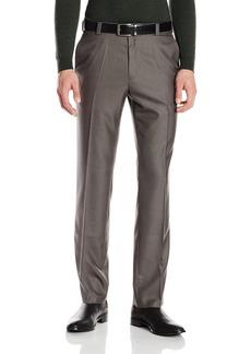 Kenneth Cole REACTION Men's Sharkskin Slim Fit Flat Front Pant  38x30