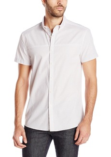 Kenneth Cole REACTION Men's Short-Sleeve BDC Circle Woven Shirt