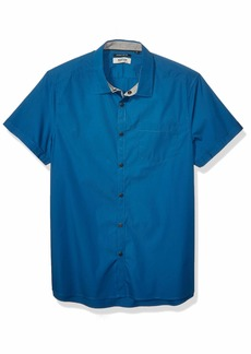 Kenneth Cole REACTION Men's Short Sleeve Button Down Shirt  L