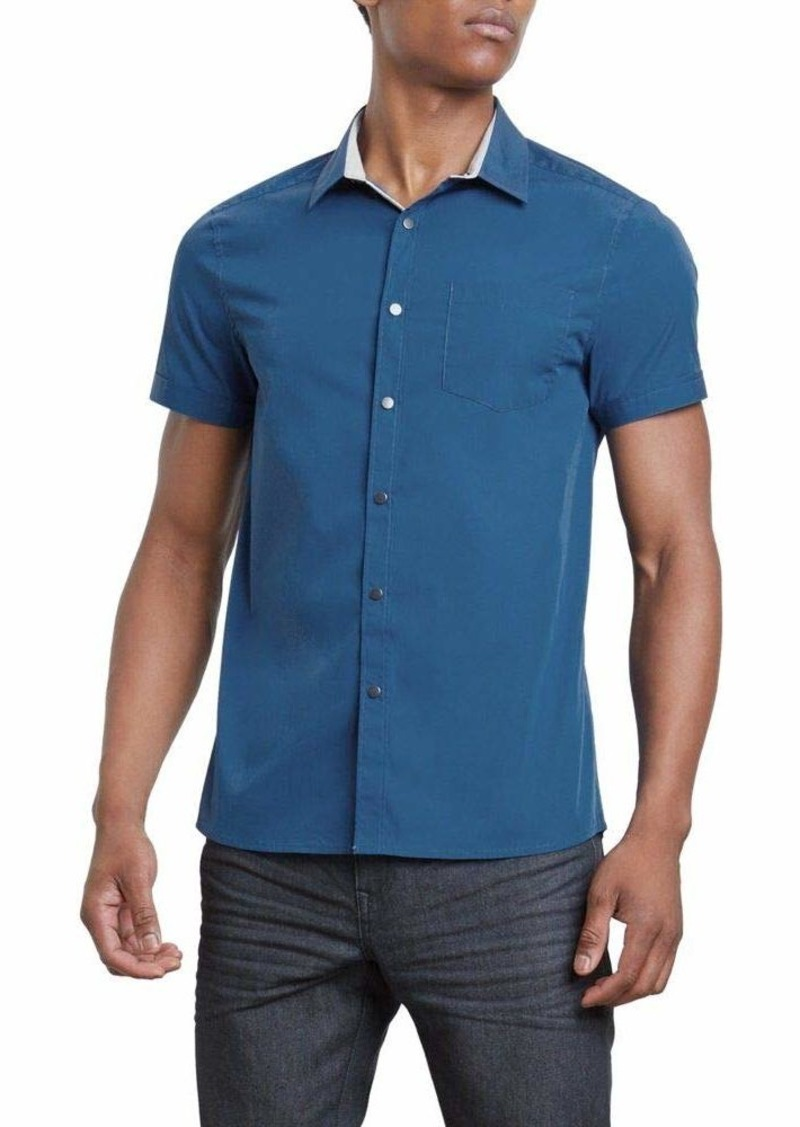 Kenneth Cole REACTION Men's Short Sleeve Button Down Shirt  S