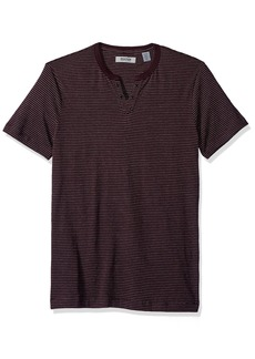 Kenneth Cole REACTION Men's Short Sleeve Eyelet Henley