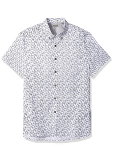 Kenneth Cole REACTION Men's Short Sleeve Fish Print 1 Pocket