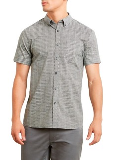 Kenneth Cole REACTION Men's Short Sleeve Mini Geo Print