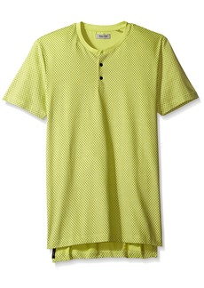 Kenneth Cole REACTION Men's Short Sleeve Printed Knit Henley