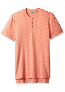 Kenneth Cole REACTION Men's Short Sleeve Square Dot Print Henley