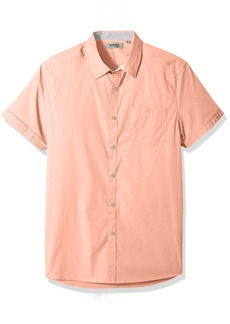 Kenneth Cole REACTION Men's Short Sleeve Stretch Snap Shirt