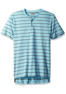 Kenneth Cole REACTION Men's Short Sleeve Stripe Henley