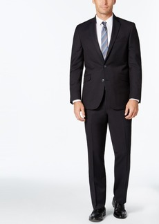 Kenneth Cole Reaction Men's Slim-Fit Black and Blue Pindot Suit