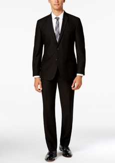 Kenneth Cole Reaction Men's Slim-Fit Black Suit with Finished Pant Hem