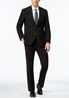 Kenneth Cole Reaction Men's Slim-Fit Black Tonal-Stripe Suit