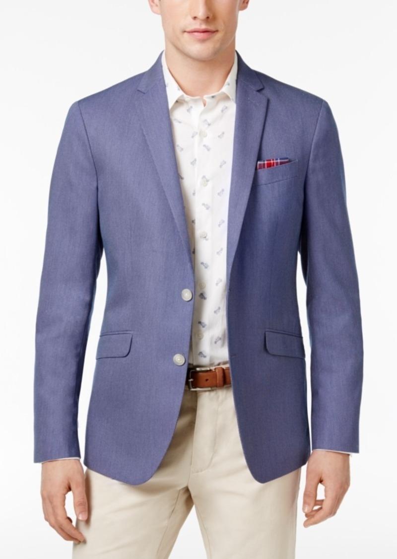 Kenneth Cole Reaction Men s Slim-Fit Blue and White Birdseye Sport Coat 3f636ecd6