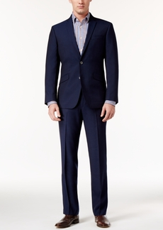 Kenneth Cole Reaction Men's Slim-Fit Dark Blue Mini-Grid Suit
