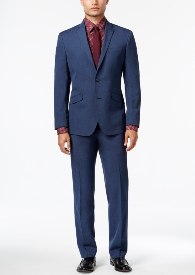 Kenneth Cole Kenneth Cole Reaction Men s Slim-Fit Blue Pindot Suit ... be2ba50dd
