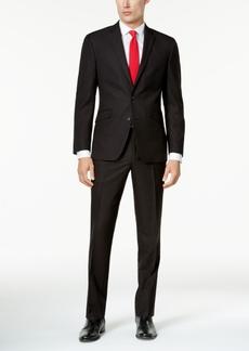 Kenneth Cole Reaction Men's Techni-Cole Slim-Fit Brown Pindot Suit