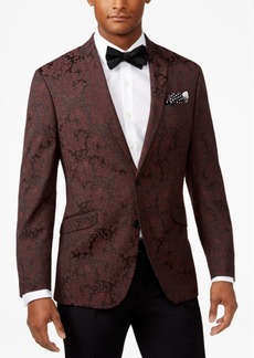 Kenneth Cole Reaction Men's Slim-Fit Burgundy Paisley Dinner Jacket