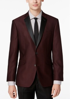 Kenneth Cole Reaction Men's Slim-Fit Burgundy Textured Evening Jacket