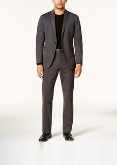 Kenneth Cole Reaction Men's Slim-Fit Charcoal Knit Techni-Cole Suit