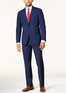 Kenneth Cole Reaction Men's Slim-Fit Cobalt Tonal Grid Techni-Cole Suit