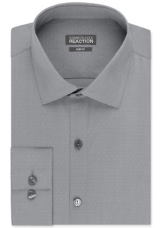 Kenneth Cole Reaction Men's Slim-Fit Dobby Dot Dress Shirt