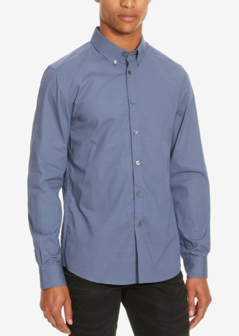 Kenneth Cole Reaction Men's Slim-Fit Geometric Long-Sleeve Shirt