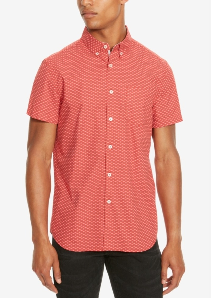 Kenneth Cole Reaction Men's Slim-Fit Geometric Short-Sleeve Shirt