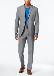Kenneth Cole Reaction Men's Slim-Fit Gray Check Suit