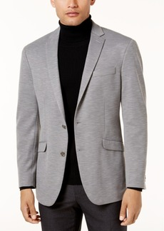 Kenneth Cole Reaction Men's Slim-Fit Light Gray Knit Soft-Tailored Sport Coat