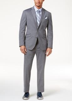 Kenneth Cole Reaction Men's Slim-Fit Medium-Gray Knit Techni-Cole Suit