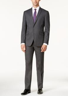 Kenneth Cole Reaction Men's Techni-Cole Slim-Fit Medium-Gray Tonal Suit