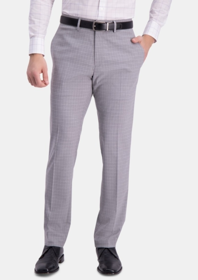 Kenneth Cole REACTION Mens Athleisure Heather Flex Waistband Slim Fit Pant Dress Pants