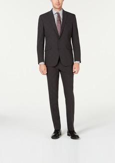 Kenneth Cole Reaction Men's Slim-Fit Ready Flex Stretch Charcoal Glen Plaid Suit