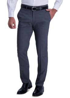 Kenneth Cole Reaction Men's Slim-Fit Stretch Heathered Glen Plaid Dress Pants