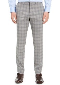Kenneth Cole Reaction Men's Slim-Fit Stretch Plaid Dress Pants