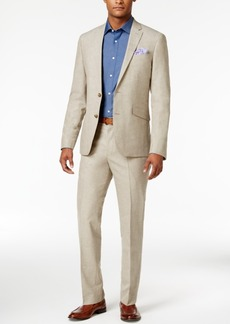 Kenneth Cole Reaction Men's Slim-Fit Tan Neat Suit