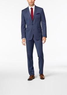 Kenneth Cole Reaction Men's Slim-Fit Techni-Cole Stretch Denim Blue Solid Suit