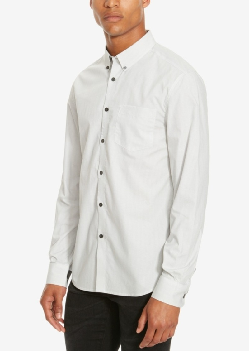Kenneth Cole Reaction Men's Slim-Fit Textured Long-Sleeve Shirt