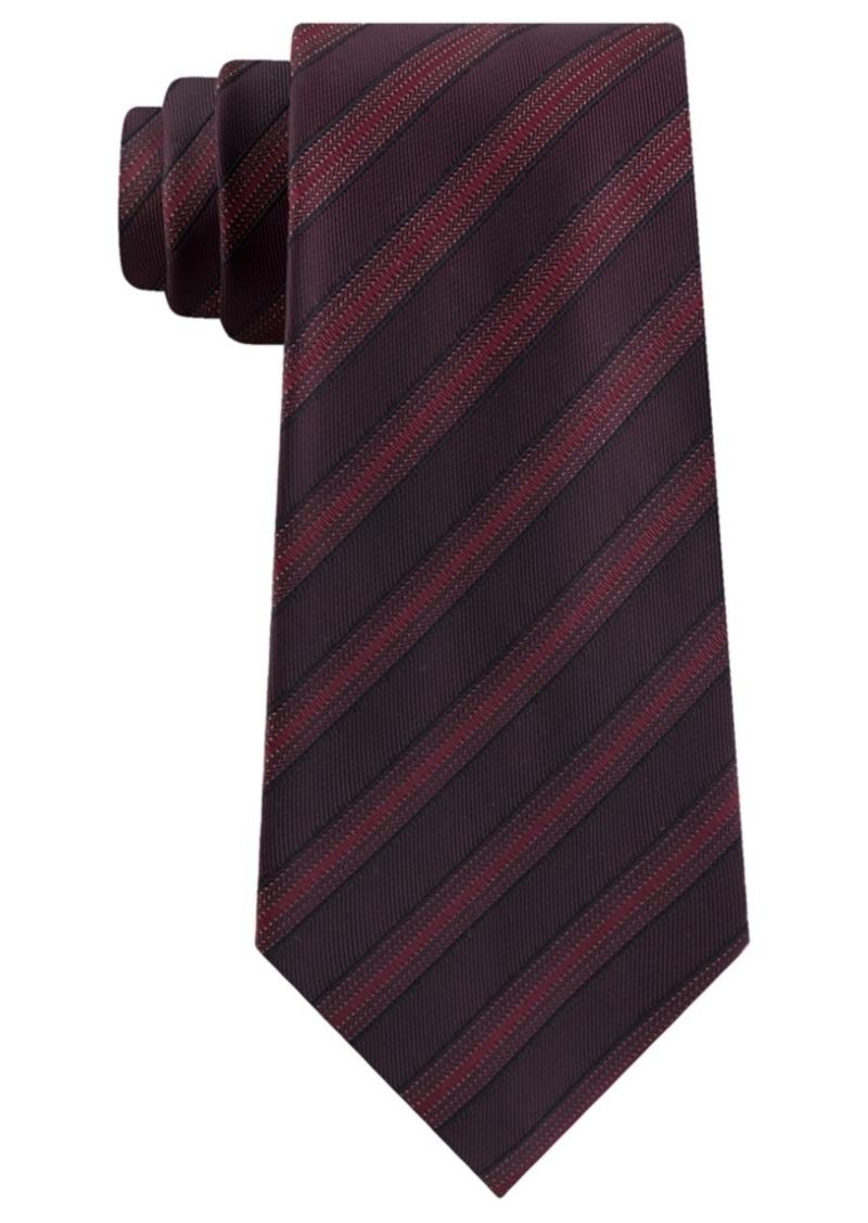 Kenneth Cole Reaction Men's Slim Metallic Dot Stripe Tie