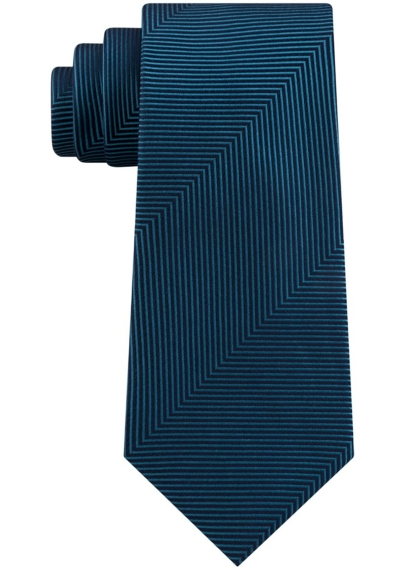 Kenneth Cole Reaction Men's Slim Oversized Herringbone Tie