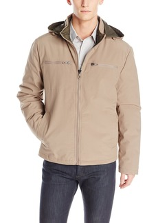 Kenneth Cole New York Men's Softshell Jacket With Packable Lining dune