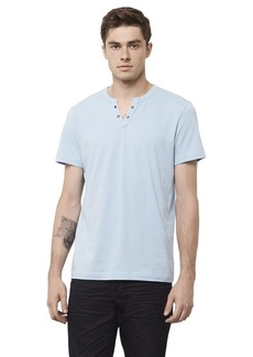 Kenneth Cole REACTION Men's Ss Eyelet Henley