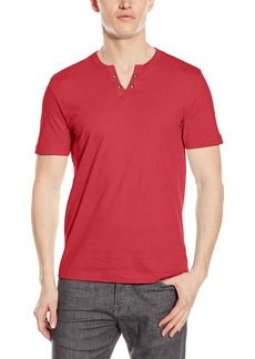 Kenneth Cole REACTION en's Ss Eyelet Henley  edium