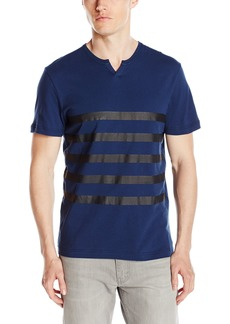 Kenneth Cole REACTION Men's Ss Henley Printed