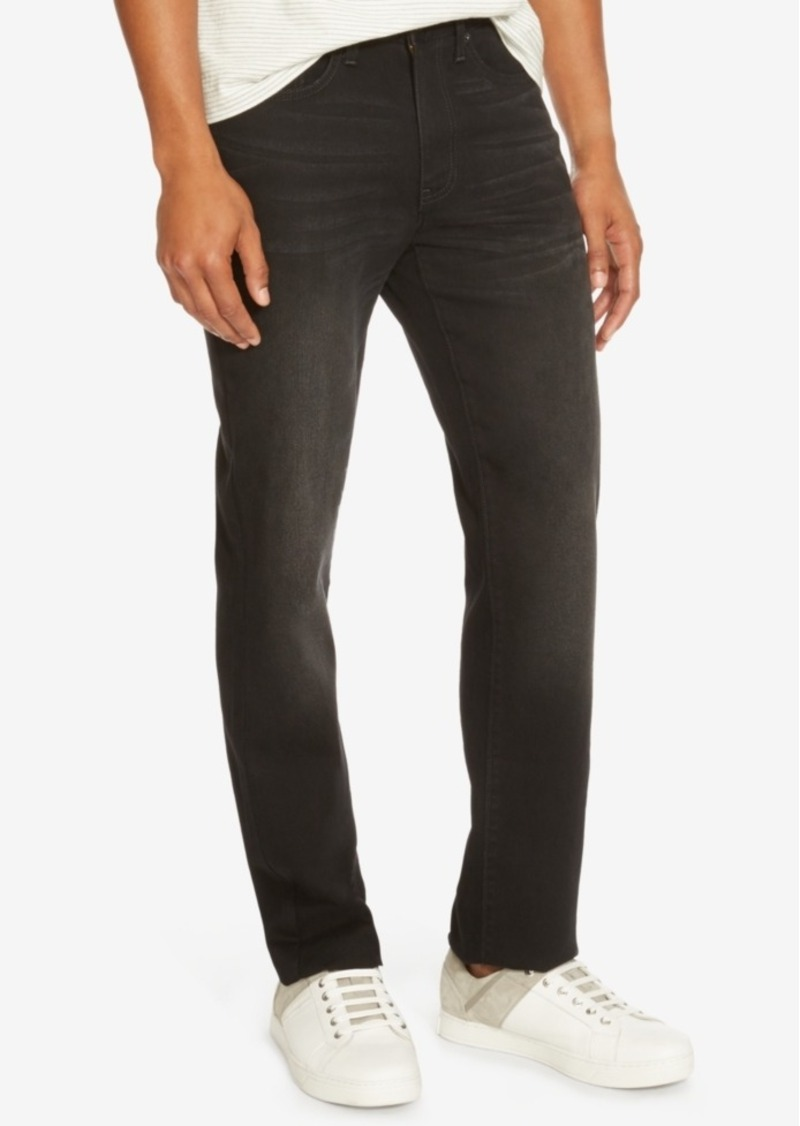 Kenneth Cole Reaction Men's Straight-Fit Black Wash Jeans