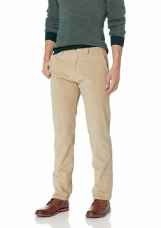 Kenneth Cole REACTION Men's Stretch Corduroy Slim Fit Flat Front Casual Pant  33Wx30L