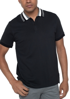 Kenneth Cole Reaction Men's Striped-Collar Polo